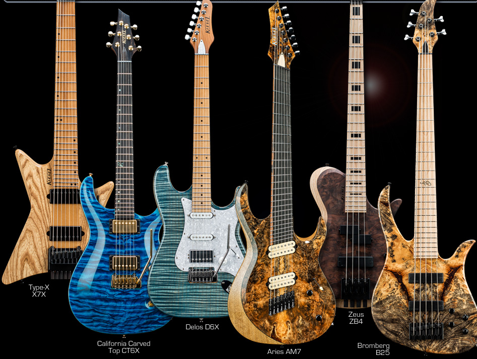 Kiesel Guitars Custom Shop Guitars and Basses